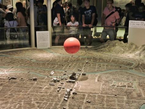 Rappresentazione dell'esplosione atomica al Museo della Pace di Hiroshima, Cabiria Magni