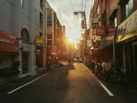 Le strade di Hiroshima poco prima del tramonto. Cabiria Magni, Giappone