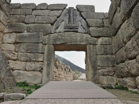 Micene, porta dei leoni. Cabiria Magni, Grecia