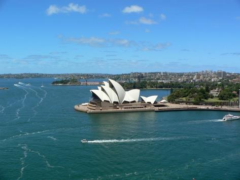 Sydney, vista sull'Opera House. Australia, Cabiria Magni