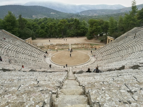 Teatro di Epidauro, Cabiria Magni, Grecia