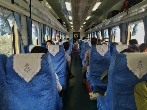 Yunnan, interno treno, Cabiria Magni