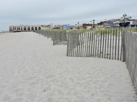 Ocean City, il tratto di spiaggia dietro al boardwalk